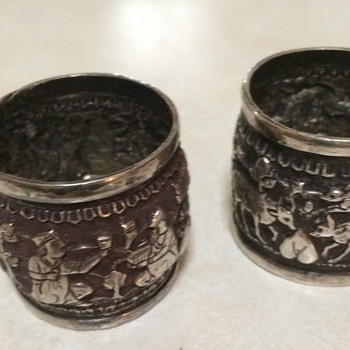Persian/Indian Silver Napkin Rings