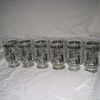 6 miller king kan glasses - Breweriana