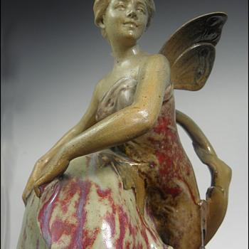 "Henri-léon Charles Robalbhen ""Fairyland"" Figure - Art Nouveau"