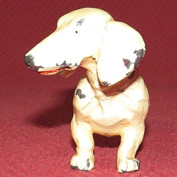 Vintage Pewter Dachshund - Animals