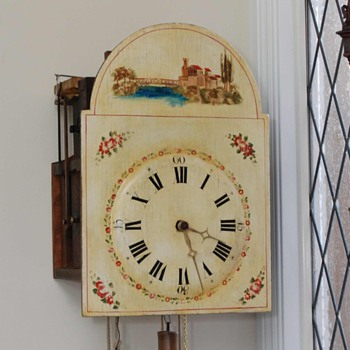 Black Forest Musical Flute Clock C. 1820 - Clocks