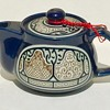 Unusual Teapot & Unknown Makers Mark Cobalt Blue Raised Design ? Any Ideas ?