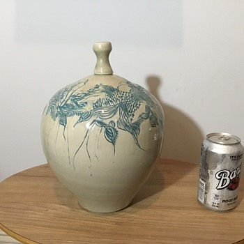 Signed Weed Pot Studio Pottery  - Pottery