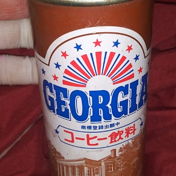 "Rare Vintage ""Georgia"" Japanese Coffee Coca Cola Can with Upside Down Label - Coca-Cola"