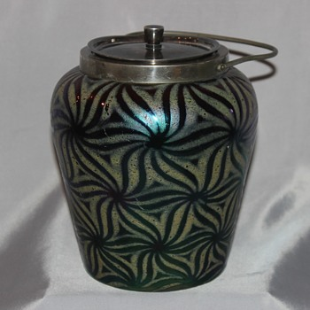 Unusual Finish Biscuit   Maker? - Art Glass