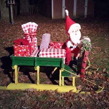 handmade sleigh - Christmas