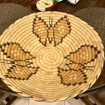 Coiled Basket Butterfly design - Native American