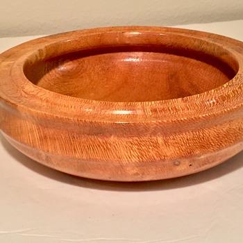 Australian Silky Oak Intricately Cut Bowl Signed Walsh - Kitchen