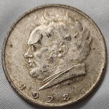 1928 silver Austrian 2 shillings - World Coins