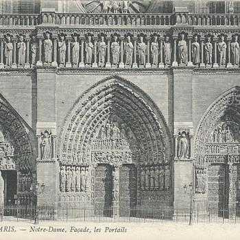 PARIS –NOTRE DAME, FAÇADE LES PORTAILS - Postcards