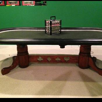 Custom made poker table
