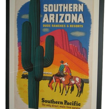 Southern Pacific Arizona Dude Ranch Railroad Poster - Posters and Prints