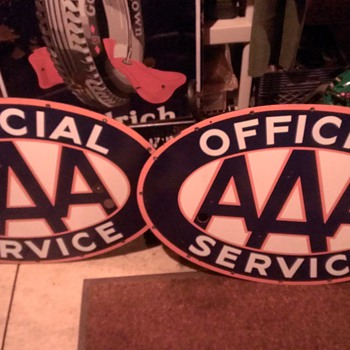 AAA 2 sided Neon Porcelain with ORANGE outline - Signs