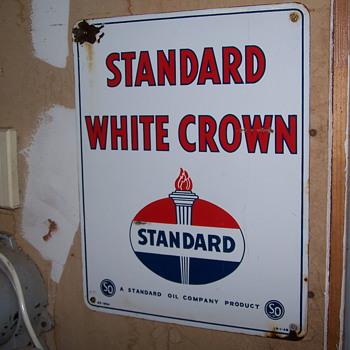 Standard White Crown 1954 Porcelain - Advertising