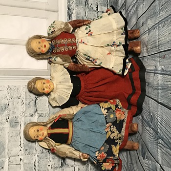 Antique Doll Composition? and Leather.  - Dolls