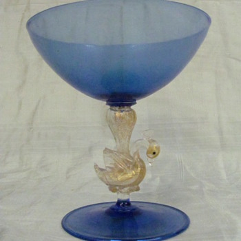 blue murano glass - Art Glass