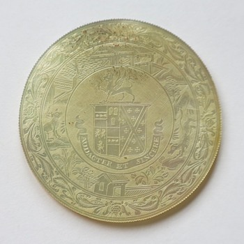 Mother of pearl gaming token - World Coins