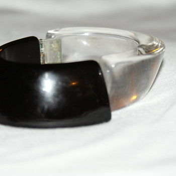 Vintage Clamper Lucite Bracelet - Costume Jewelry