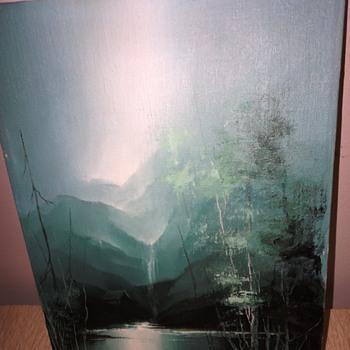 Small Mountain Scene Oil on Canvas - Fine Art