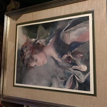 Beautiful Girl Litho - Fine Art