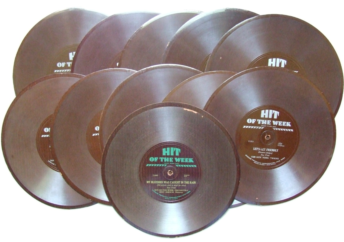 what were 78 rpm records made of