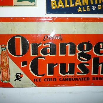 Orange Crush Soda Sign  - Signs