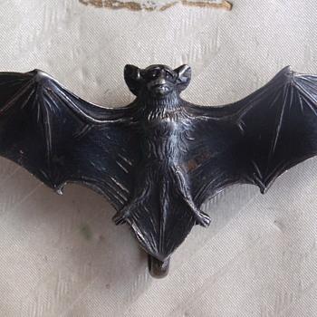 Art Nouveau bat brooch
