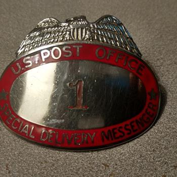 U S post office badge - Politics