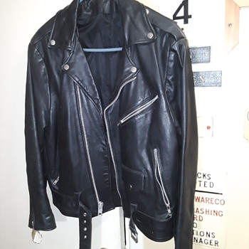 black leather motorcycle jacket (#1) - Mens Clothing