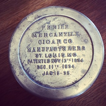 One Hundred Twenty Four years old. F. R. Rice Cigar Amber Jar...1894-1895 - Tobacciana