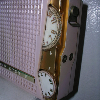 Some highly sought-after early Japanese transistor radios from 1958-1960. Toshiba, Sharp, Hitachi, Aurora. Beautiful styling.