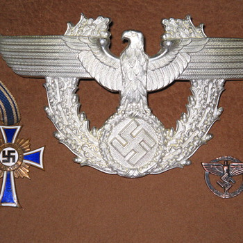 Nazi Germany war medal , pin & emblem for hat? - Military and Wartime