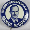 George McGovern Political Campaign Pinback Button