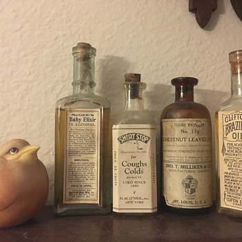 Antique/Vintage Labeled Medicine Bottles - Bottles