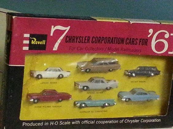 Vintage Revell 7 Chrysler Corporation Cars for '61