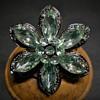6 petals Flower Brooch, 20 Century