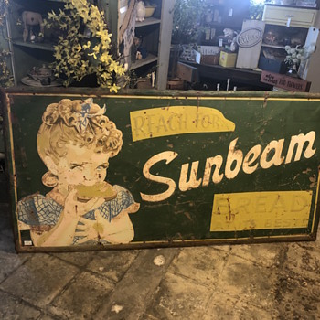 Sunbeam Bread old sign - Signs