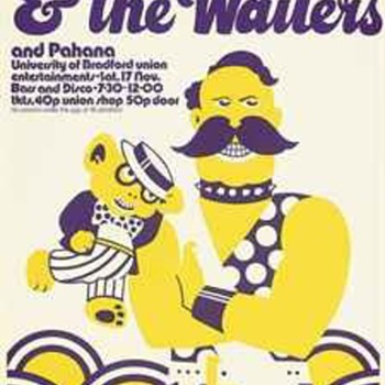 Bizarre Bob Marley and the Wailers concert poster