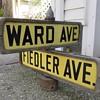 1910s-1920s Staten Island, N.Y. street signs
