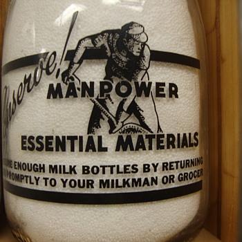 Indianapolis Indiana MBS Dairy Patriotic Milk Bottle # 1....