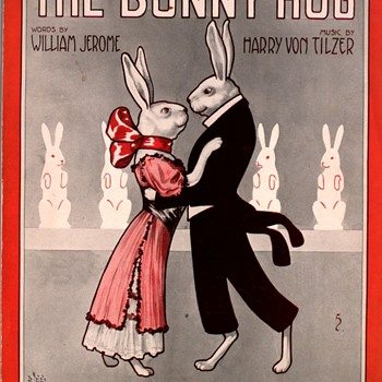 THE BUNNY HUG, 1912 sheet music. - Music Memorabilia