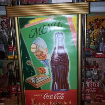 1950 Coca-Cola Cardboard Sign(s) - Coca-Cola