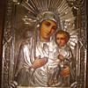 Antique Russian orthodox icon representing Madonna with child