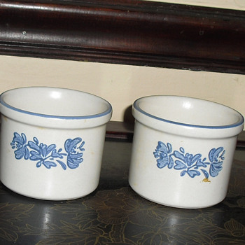 Butter crocks made USA - Pottery