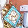 Schatz Anniversary Clock - turquoise colour