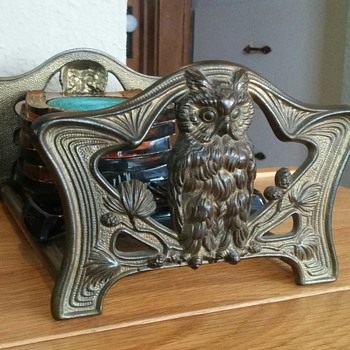 Judd manufacturing co. slidding bookends - Art Nouveau