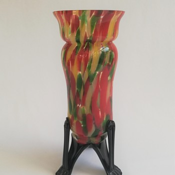 Welz Vase on Strutted Legs - Art Glass