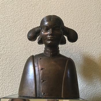 Antique Bronze Lady - Fine Art