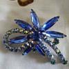 Blue stoned brooch