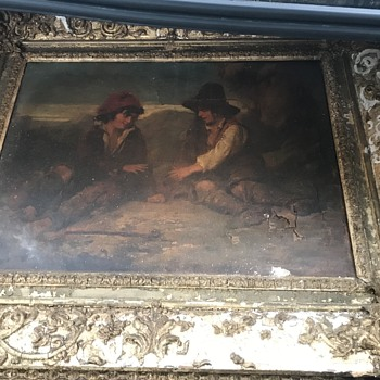 Salvaged Oil Painting -  Signed, 1829 - Fine Art